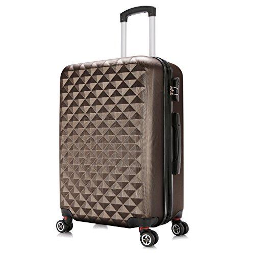 WOLTU RK4216co-XL, Reise Koffer Trolley Hartschale 4 Rollen Volumen erweiterbar, Reisekoffer Hartschalenkoffer Zwillingsrollen Handgepäck groß M L XL Set...