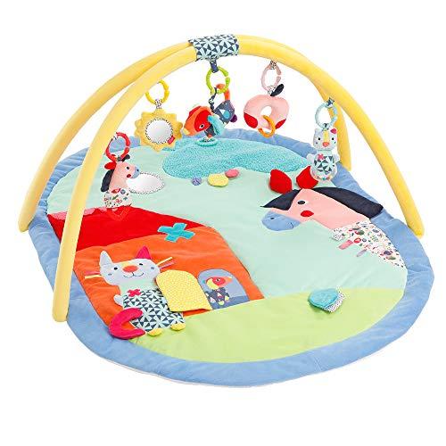 palestrina neonato fehn Fehn 055238 - Coperta per attività 3D Color Friends – Divertimento a sentirsi e afferrare neonati e bambini a partire da 0 mesi – Dimensioni 80 x 105 cm