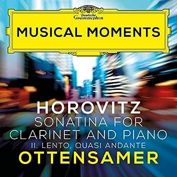 Horovitz: Sonatina for Clarinet and Piano: II. Lento, quasi andante (Musical Moments)