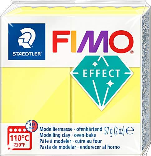 FIMO 1 PANETTO EFFECT 56G. COLORE GIALLO TRASLUCIDO