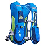 AONIJIE Running Backpack Sac à dos fonctionnel léger d'hydratation Pack 5.5L (Bleu)