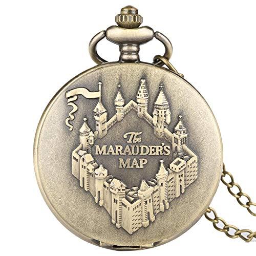 ZMKW Die Rumtreiber Karte Kupfer Taschenuhr Uhr Vintage Halskette Anhänger Uhr Frauen Männer Kette Souvenir Geschenke, Standard