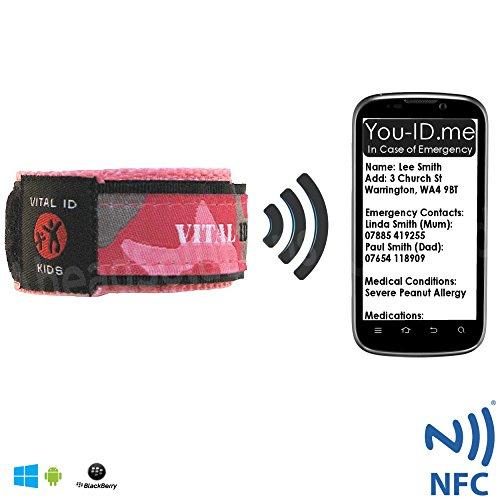 Child Identity ID Veiligheid Polsband Smart Phone Store Contact Kinderen Allergie Medicatie Bijwerkbare Waterdichte Verstelbare Kinderen Armband Vitale Diabetes Epilepsy Holiday Hotel Asthma Ouders