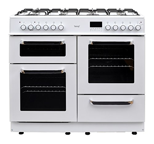 Teknix TKRC100W 100cm Dual Fuel Range Cooker in White