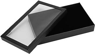 NCONCO 36 Ranura Flocado Joyero Caja de almacenamiento Anillo Pendientes Colgante Display Case Organizer(negro)