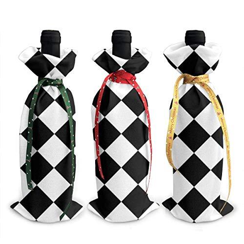 chengnan Vacío Diagonal Ch Board EPS10 3 piezas Navidad botella de vino cubierta vacaciones vino tinto bolsas regalo vino champán bolsas fiesta Navidad decoraciones