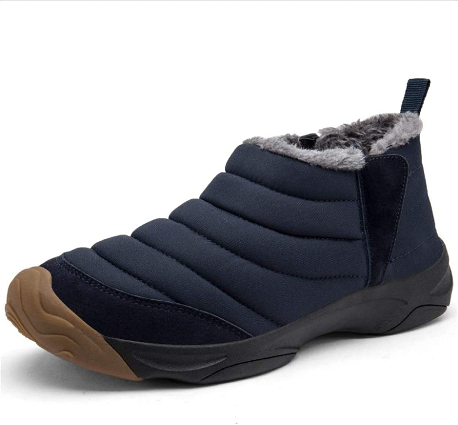 Snow Boots Womens and Mens Winter Lined Boots Waterproof Outdoor Hiking Warm shoes (color   bluee, Size   7 US)