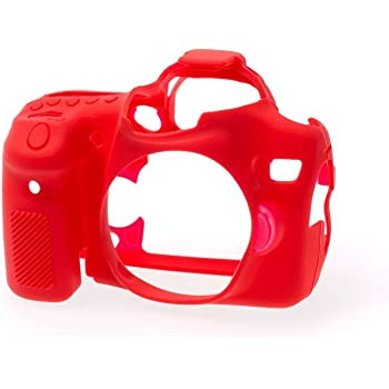 EasyCover Silicone Armor Skin Case Cover Protector for Canon 5D Mk3 Camera Red