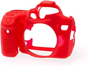 EasyCover Silicone Armor Skin Case Cover Protector for Canon EOS 70D Camera Red