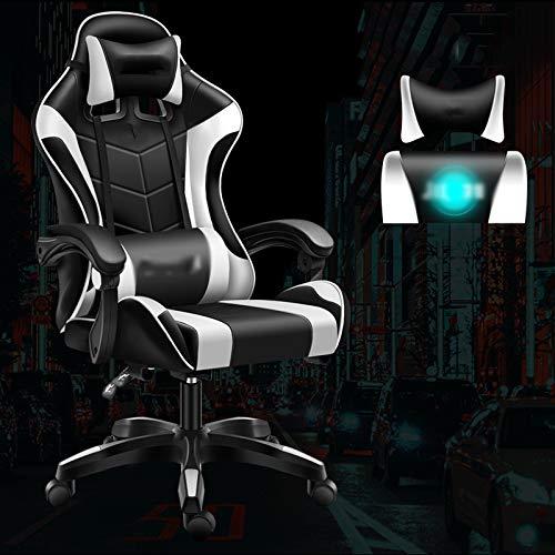YHNMK Gaming Chair,Silla De Carreras,Ajustables Silla De Computadora,con Respaldo/Reposacabezas,con Función De Inclinación Silla Ejecutiva