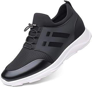 Yusea, scarpe da ginnastica da uomo Ava da ginnastica con aumento interno, antiscivolo, scarpe da corsa leggere e traspiranti