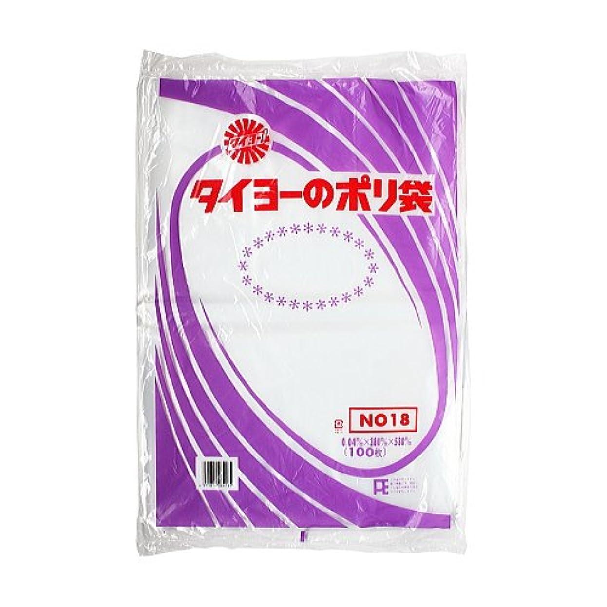 滴下紫の実験的タイヨーのポリ袋 No.18 0.04mm×380mm×530mm 100枚入×5袋入箱