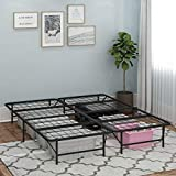 Furinno Angeland Mattress Foundation Platform Metal Bed Frame,...