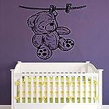 yaonuli Etiqueta de la Pared del Oso Dormitorio de los niños habitación del bebé decoración del hogar Pegatina de Vinilo Lindo Oso Mural 63X75 cm