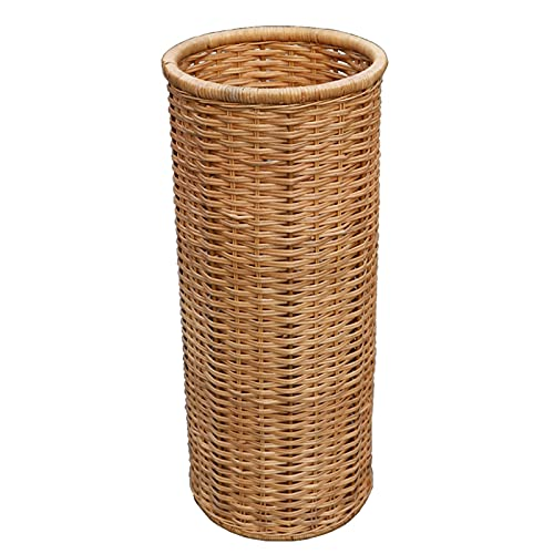 Bamboo Rattan Umbrella Stands for Entryway, Cylindrical Design Space-Saving Umbrella Holder, for Organize Walking Stick, Home/Office