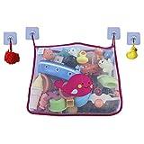 COSY ANGEL Baby Badespielzeug Tasche für Badespielzeug Groß Organizer Badezimmer Aufbewahrungsnetz mit 4 wasserdichten, selbstklebenden Haken (Pink)