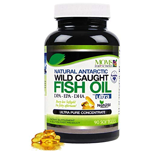 Wild Caught Natural DPA Fish Oil by Moms For Nutrition - Sustainable Omega 3 DPA-EPA-DHA 2,900 Milligram Fish Oil Supplement - Ultra Pure Triple Strength Concentrate - Burp-Less Soft-Gels