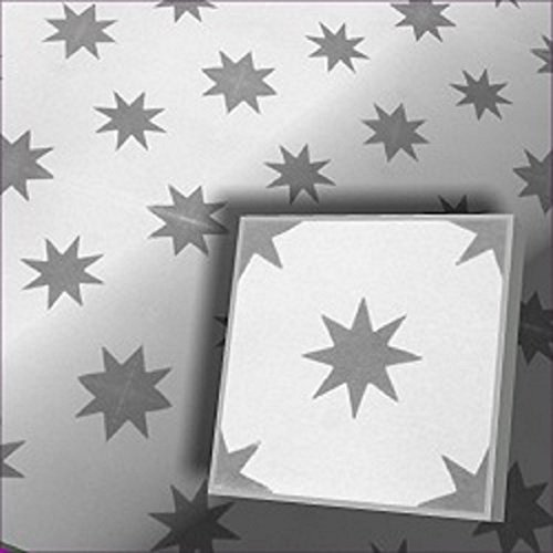 1 m² (25 Stück) Zementfliesen Stern 1612 mediterrane marokkanische Fliesen