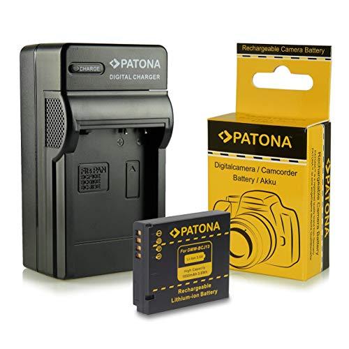 PATONA 3in1 Ladegerät + Akku kompatibel mit Panasonic DMW-BCJ13, Leica BP-DC10E für Panasonic Lumix DMC-LX5, DMC-LX7, Leica D-LUX 5, D-LUX 6