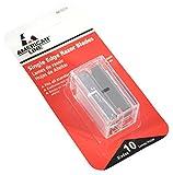 American Line 66-0210 .009 Single Edge Blade Safety Dispenser with 10 Razer Blades,Gray
