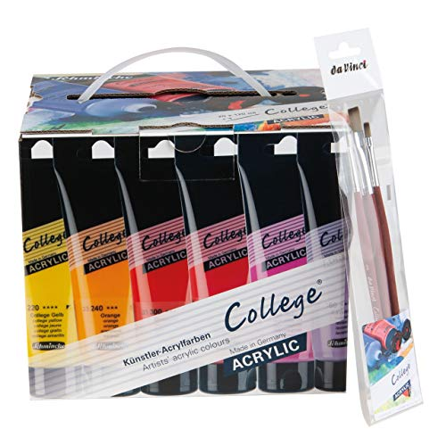 Schmincke College-Acrylfarben Value Pack 20x 120ml inkl. 3 Pinsel