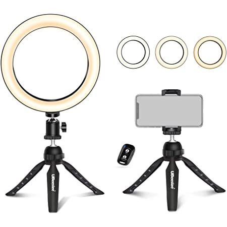 8 Selfie Ring Light with Selfie Stick Tripod for Live Stream//Makeup Saveyour Mini LED Camera Selfie Ringlight for YouTube Video//Photography Compatible with iPhone Xs Max XR Android