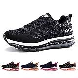 AONETIGER Chaussures de Running Homme Femme Air Basket Légères Course Trail Shoes Sport Gym Mode Fitness Sneakers Respirante Outdoor(Taille 43EU,Noir)
