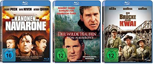 Die Kanonen von Navarone + Der wilde Haufen von Navarone + Die Brücke am Kwai [Blu-ray Set]