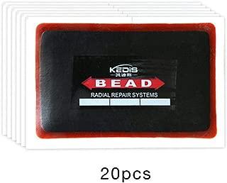 10 unidades Parches universales para pinchazos de neum/áticos de coche de goma de 80 x 120 mm