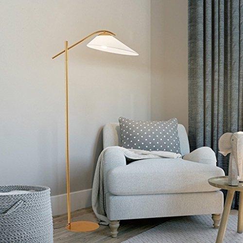 XIN Home staande lamp, staande leeslamp, creatieve Amerikaanse eenvoudige doek vloerlamp woonkamer lamp studie lamp Noord-Europa bank lampen slaapkamer licht warme oogbescherming verticale tafellamp zwart