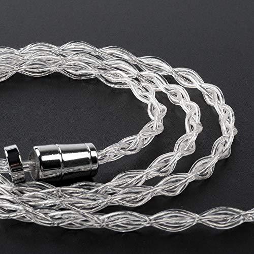 KBX4904QDCケーブル2pin3.5mmQDCストレート純銀ケーブル4芯99.99%純度銀線3.5mm純銀リケーブルイヤホンケーブルQDC純銀ケーブル2pin【純正品】Yinyoo(QDC3.5mm)