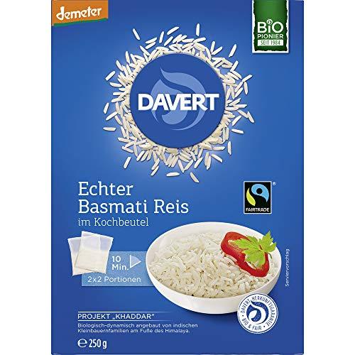 Davert Bio Echter Basmati-Reis im Kochbeutel FAIRTRADE (6 x 250 gr)