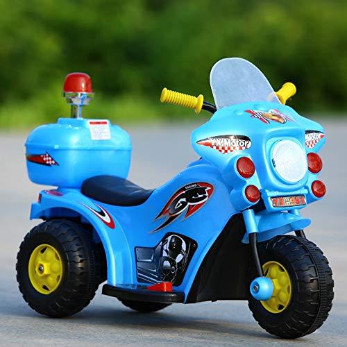 TOYYPAY Kinder Pedal Motorrad mit Musik und LED-Leuchten Kinderelektrofahrzeuge Sit-Kinder Fahren auf Spielzeug-Auto for Kinder Jungen und Mädchen (Color : Weiß)