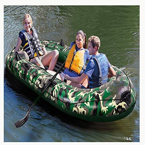 ACEWD Botes Inflables De Rio, Kayacs Hinchables De 2/3/4 Plazas, Balsa Hinchable para Rafting, Kayaks Hinchables Balsa Hinchable