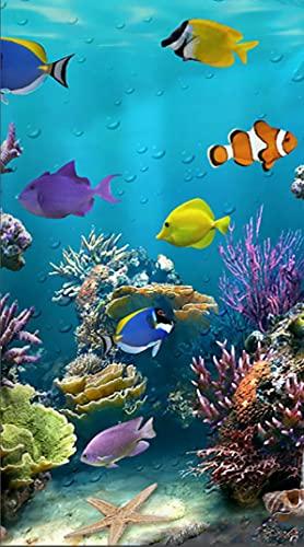 Telo mare XXL a forma di pesce, 100 x 180 cm, grande 100% microfibra, asciugamano da spiaggia,...