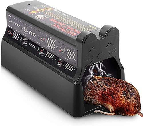 Trampa de rata eléctrica que mata al instante, 7000v trampas de ratón electrónico de 7000V Mátete de ratones grandes Killer Instant Humane Humane Safe Safe Zapper Pest Control Trampa para interiores y