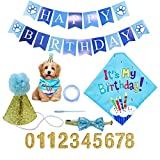 AEITPET Decoracion Cumpleaños para Perros Perro, Pañuelo Banner Regalo Set de Cumpleaños para Mascotas, Bandanas de cumpleaños para Perros, Accesorios para Fiestas