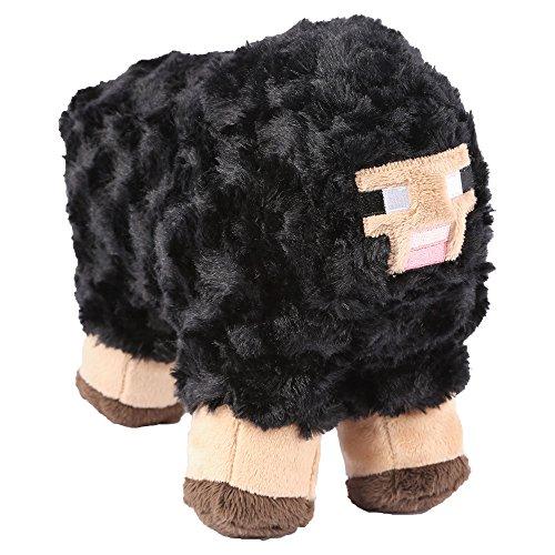 "JINX Minecraft Sheep Plush Stuffed Toy, Black, 10"" Long"