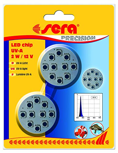sera LED chip UV-A 2 W / 12 V 2 St.