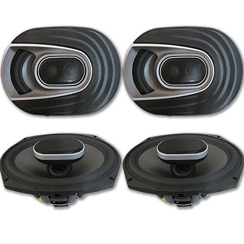 "4 x Polk Audio MM 6x9 Inch 3-way Car Audio Boat Motorcycle Ultra Marine Speakers 6x9"""