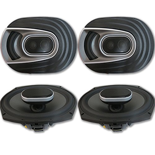4 x Polk Audio MM 6x9 Inch 3-way Car Audio Boat Motorcycle Ultra Marine Speakers 6x9'
