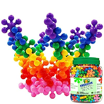 HAPISIMI 250 Pieces Building Blocks Kids STEM Toys Educational Building Toys Discs Sets Interlocking Solid Plastic for Preschool Kids Boys and Girls Aged 3+, Safe Material Creativity Kids Toys from Career World Trading Limited