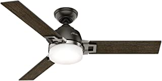 Hunter Fan Company Hunter 59219 Contemporary Modern 48``Ceiling Fan from Leoni Collection Dark Finish, Small, Noble Bronze