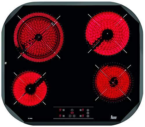 Teka TC6400 Integrado Cerámico Negro - Placa (Integrado, Cerámico, Vidrio, Negro, 14,5 cm, 16 cm)