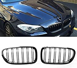 Glossy Shiny Black Front Center Kidney Grille Set Fit for 2011-2015 BMW F10 5-Series 520i 523i 525i 528i 530i 535i 540i 550i