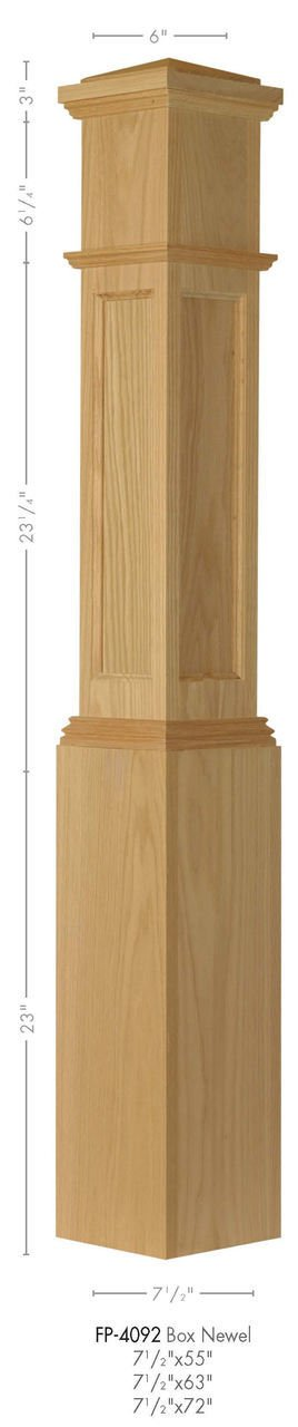 Amish Sale special price Made FP-4092 Poplar Flat Post Box Newel Jacksonville Mall Panel