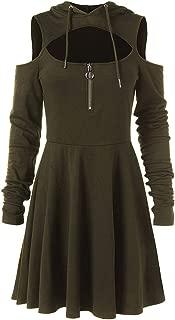 Dainzuy Steampunk - Vestido con Capucha para Mujer, SteamPunk
