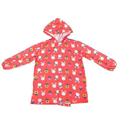 Vestes anti-pluie QFF Child Raincoat Summer Girl Soft Waterproof Poncho Enfant étudiant Rain Gear Sweet Princess Models (Taille : S)