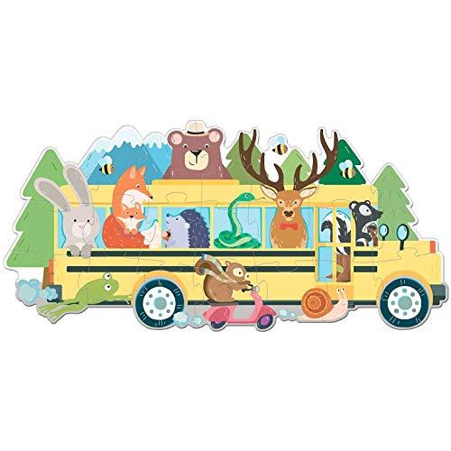Autobus De Los Animales. Puzle de viaje. Con puzzle Edic. ilustrado (Español)