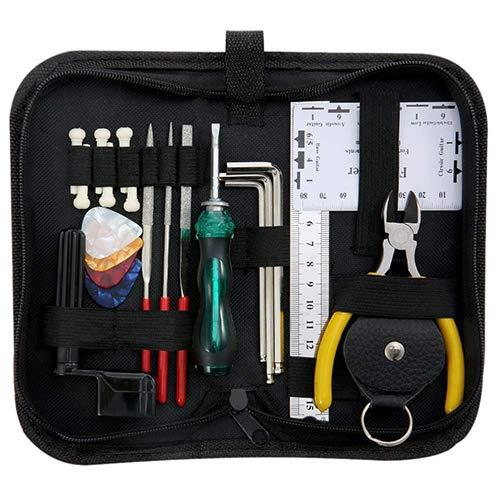 Gitaar Accessoires Reiniging Reparatie Installatie Gereedschap Kit Tuning Moersleutel Veranderende Gereedschap Set Teat Kit